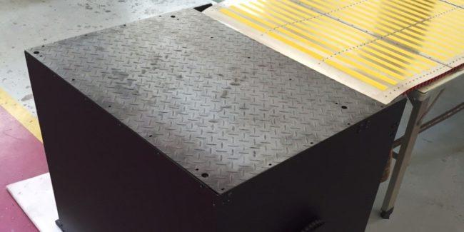 Caisson et tapis protection de fosse