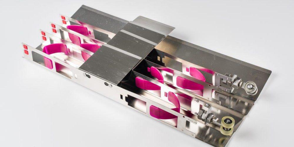 Dessous soufflet métallique machine outil
