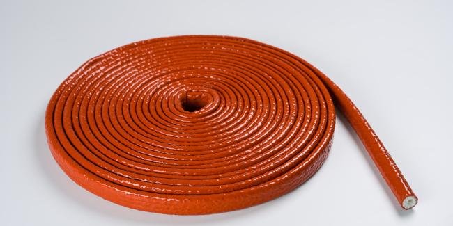 gaine isolante tressee enduite haute temperature industrie